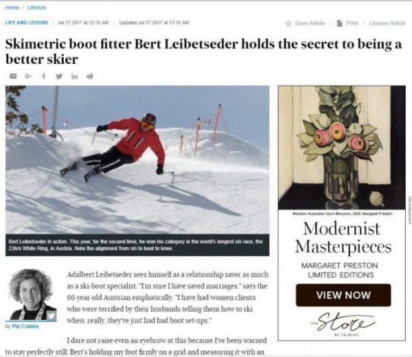 Bert Leibetseder Ski Metric Pip Coates Australian Financial Review